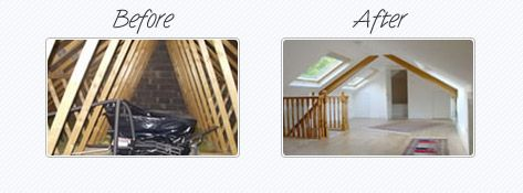attic conversions before and after the majority of attic. Black Bedroom Furniture Sets. Home Design Ideas