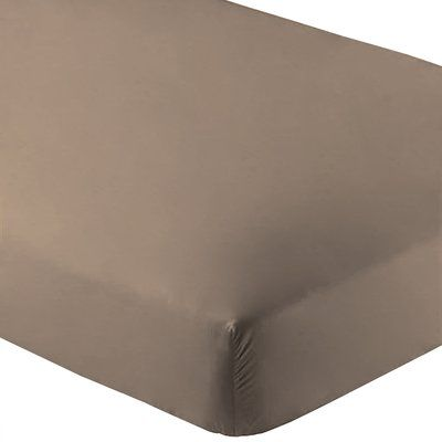 Alwyn Home Ultra Soft Luxury Microfiber Fitted Sheet Color Taupe