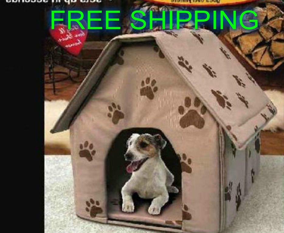 Indoor Dog House Pet Portable Cat Bed Travel Soft Warm Comfortable Folding New Indoor Dog House Cat Bed Indoor Dog