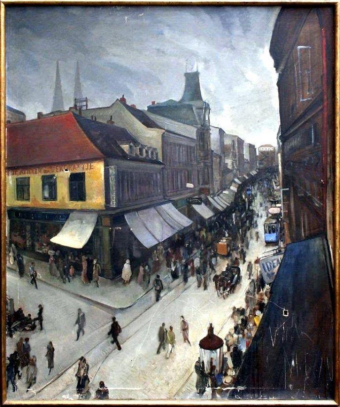 Ljubo Babic Ilica Zagreb Cityscape Zagreb Painting