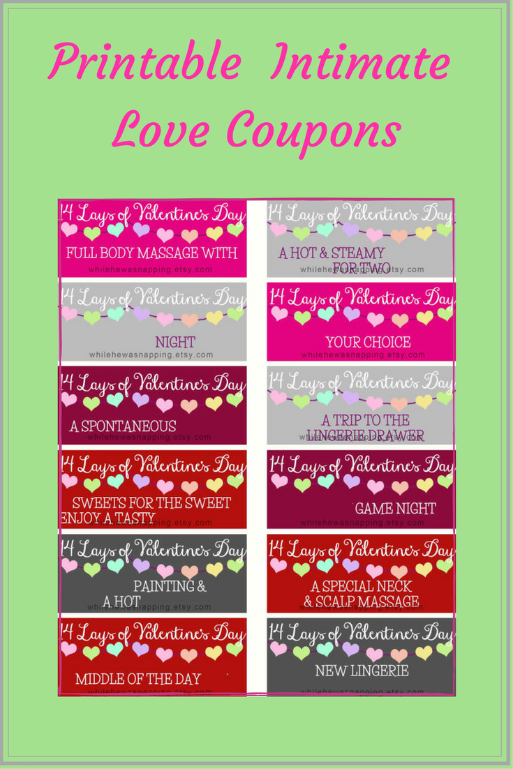 graphic regarding Printable Intimate Love Coupons referred to as Pre prepared and personalizable printable passionate enjoy