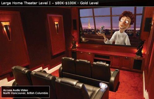 Home movie theatre with surround sound & caramel popcorn machine