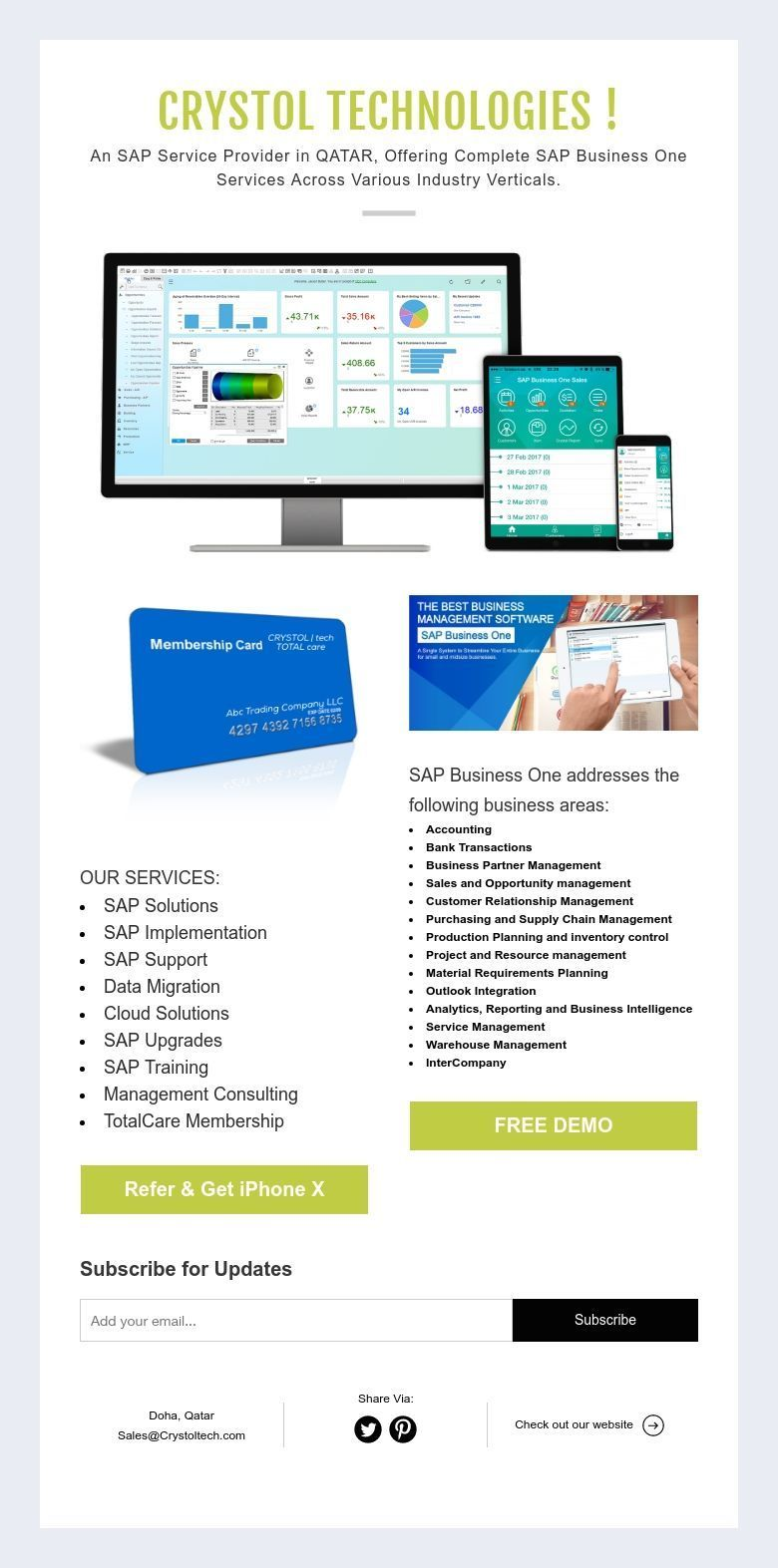 CRYSTOL TECHNOLOGIES ! An SAP Service Provider in QATAR