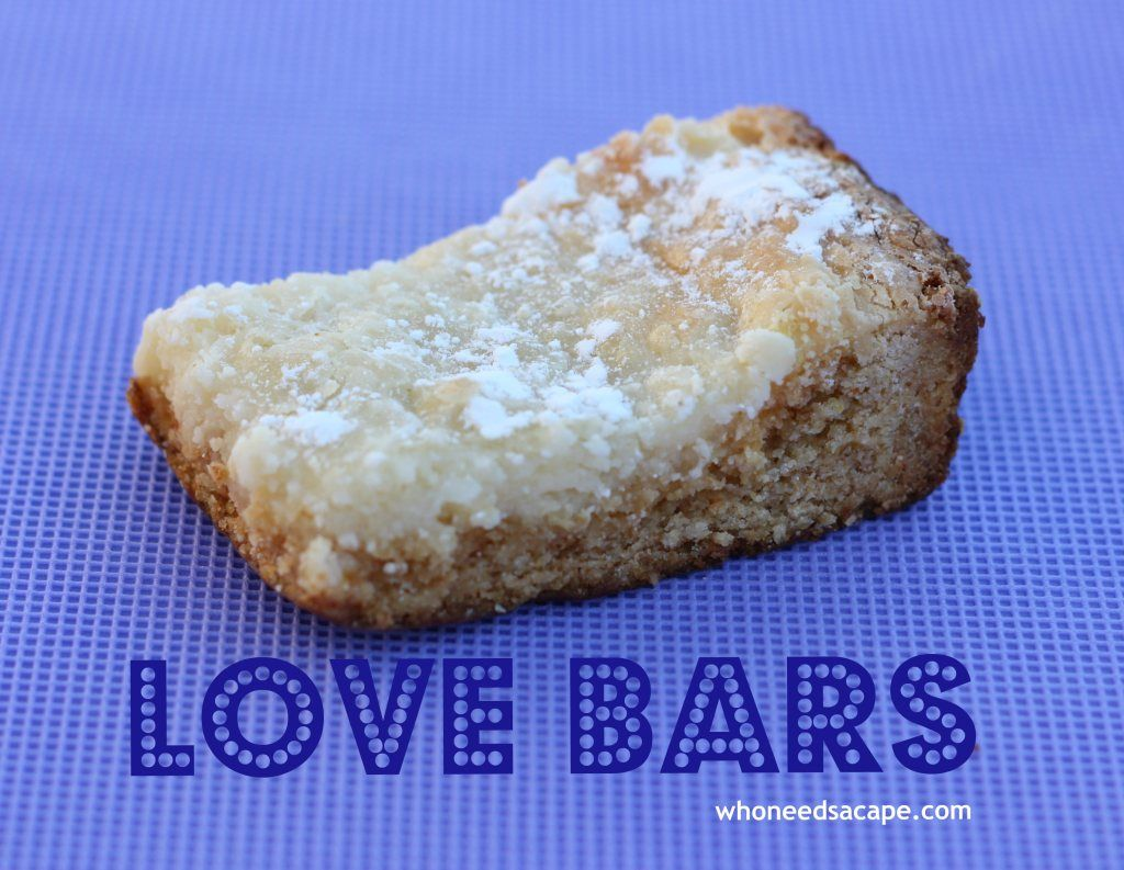 Love Bars aka Gooey Butter Bars - Who Needs A Cape?