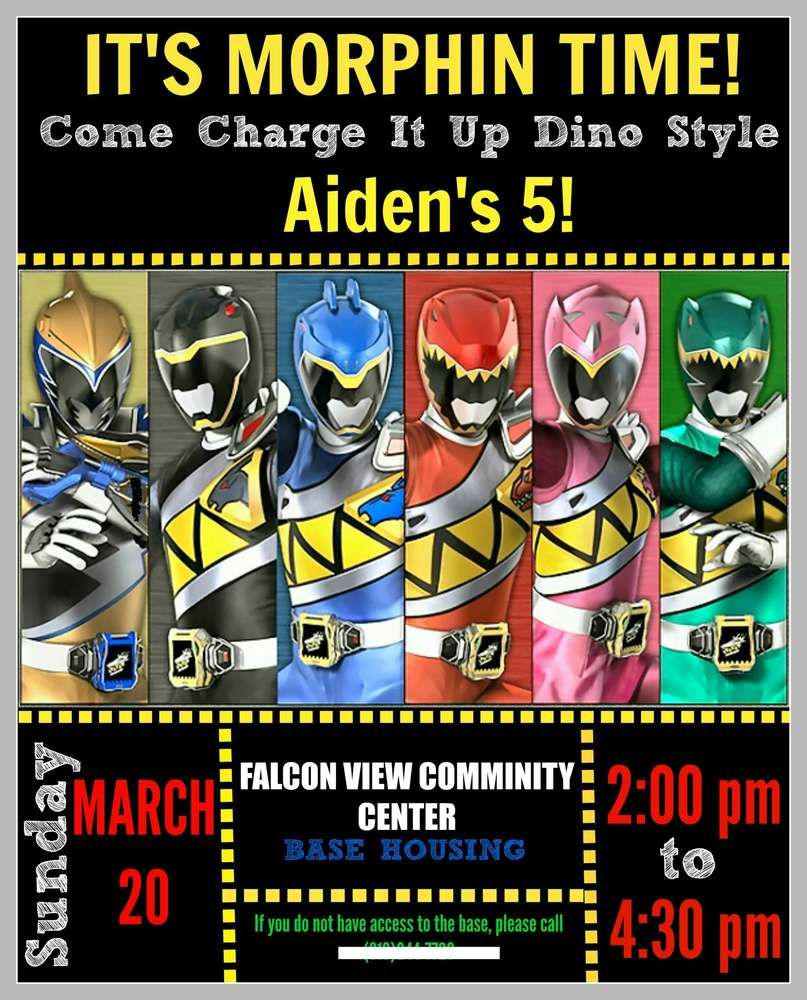 Power Rangers Dino Charge Birthday Party Ideas Photo 7 Of 28 Power Ranger Birthday Power Ranger Party Power Rangers Invitations