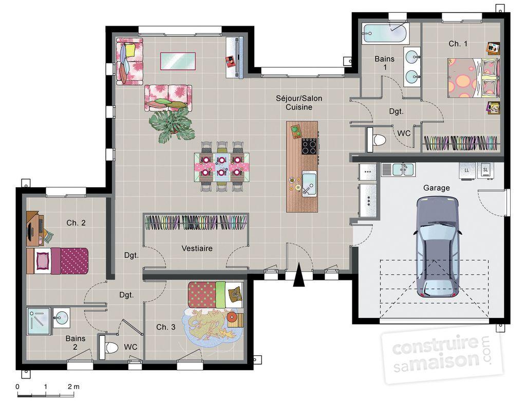Incroyable Découvrez Les Plans De Cette Maison Contemporaine De Plain Pied Sur  Www.construiresamaison. Conception Impressionnante