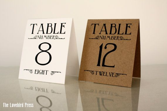 printable wedding table numbers 1 10 table tents rustic pdf