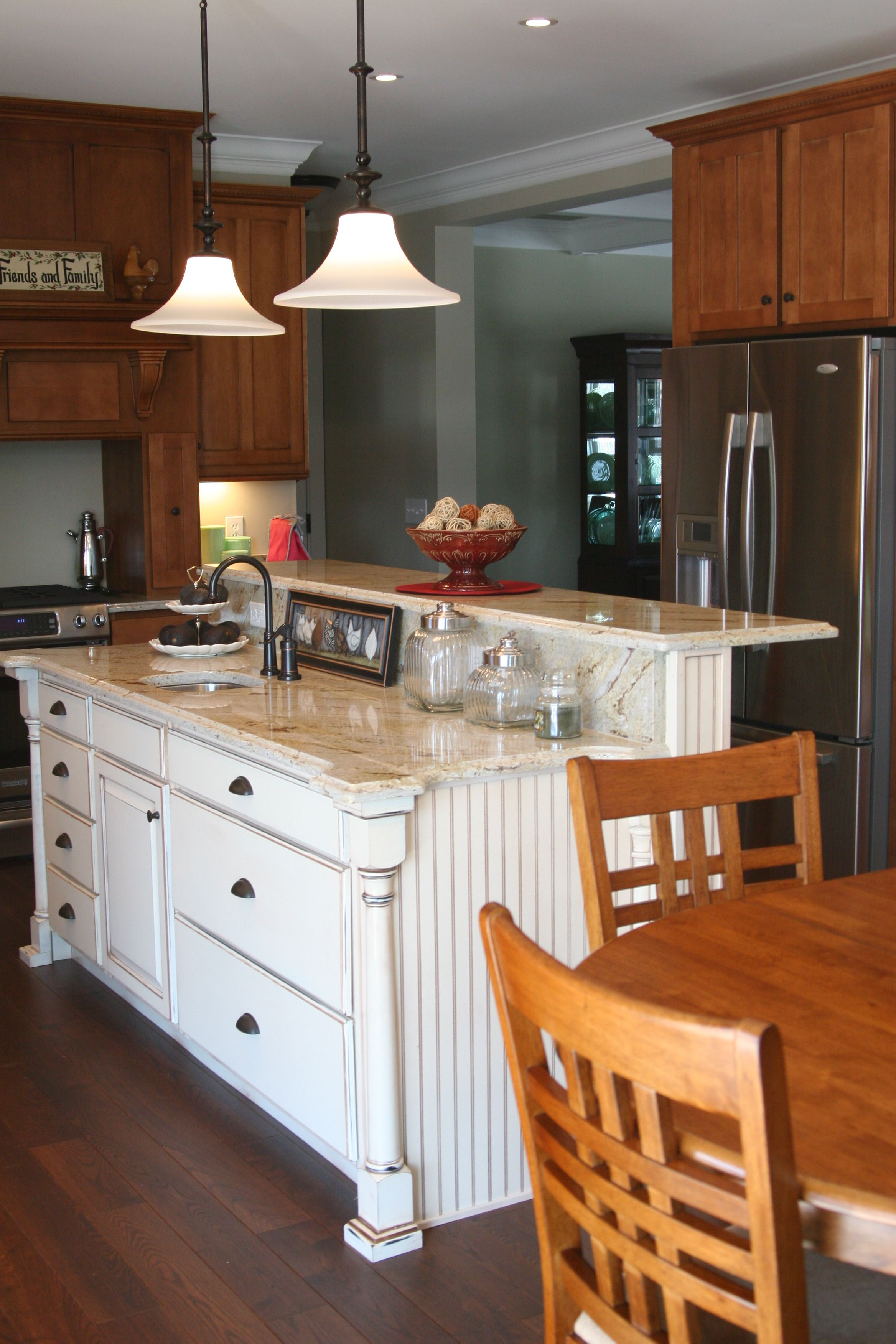 Beautiful Kitchen Accent Island W Raised Bar Tell Us What You