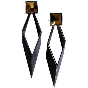 TOMTOM Dance All Night earrings, gunmetal/bronze crystal, HAYDEN-HARNETT, $165