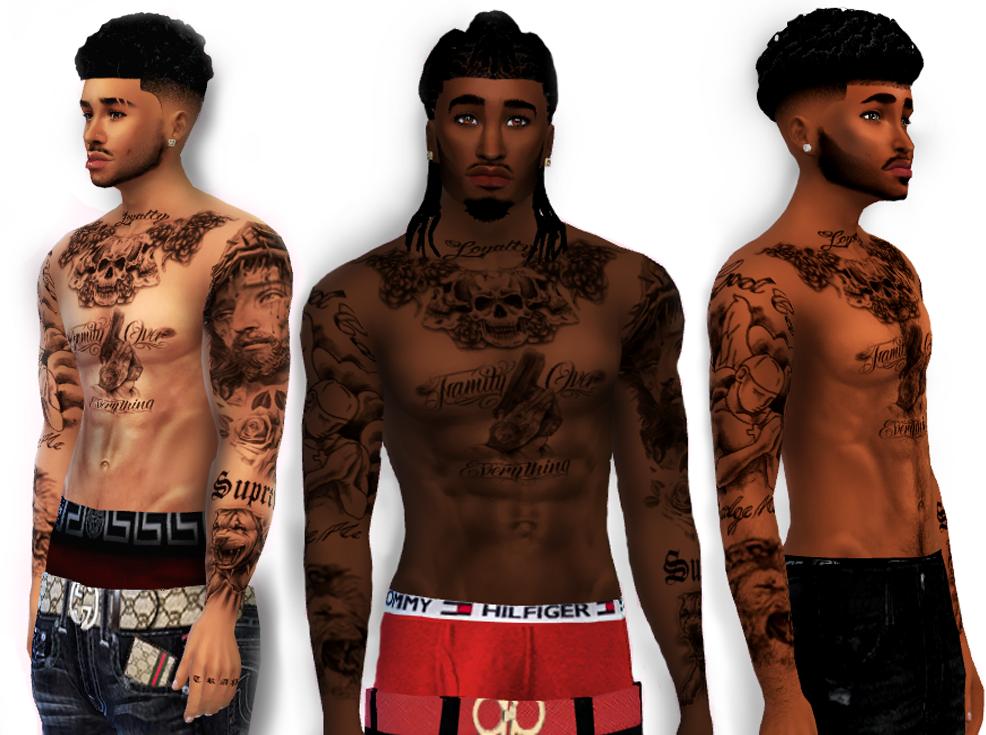 Xxblacksims Tattoos Sims 4 Tattoos Sims 4 Black Hair Sims 4 Hair Male