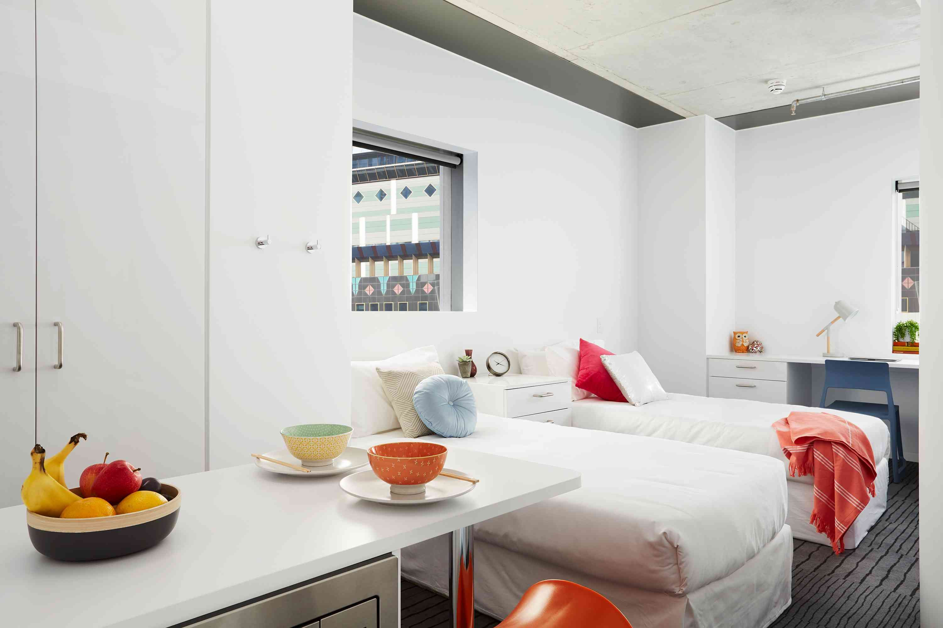 Scape Swanston Melbourne Student Accommodation University Living Student Accommodation Communal Kitchen Student Room