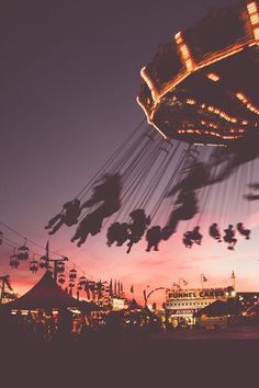 #festival #fun #rides #sundown #mood