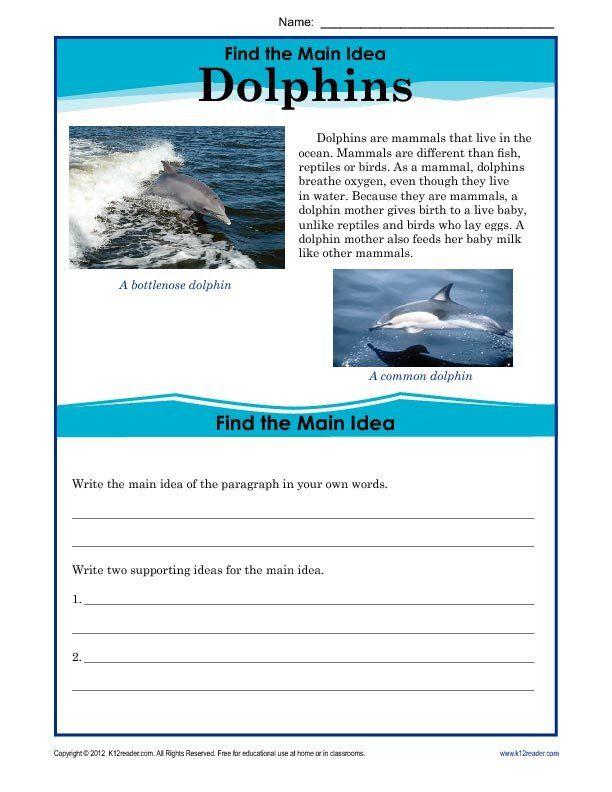 Main Idea Worksheet 4th Grade 5th Grade Main Idea ...