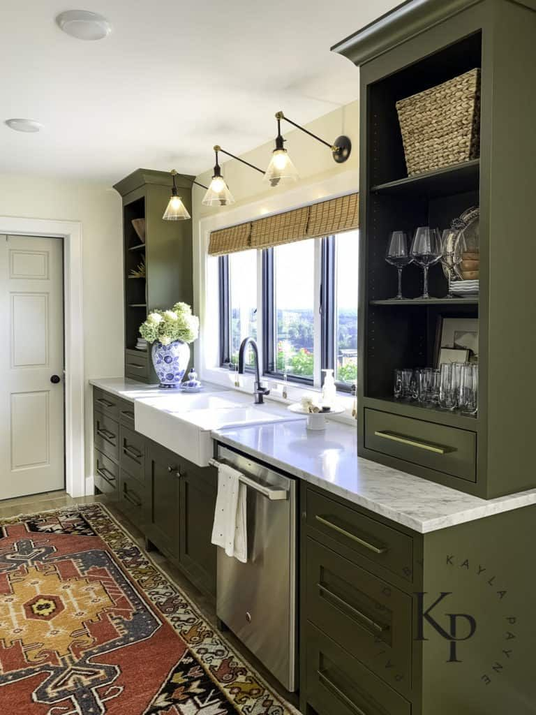 Olive Green Kitchen Cabinets - Painted by Kayla Payne -   17 sage green kitchen cabinets paint ideas