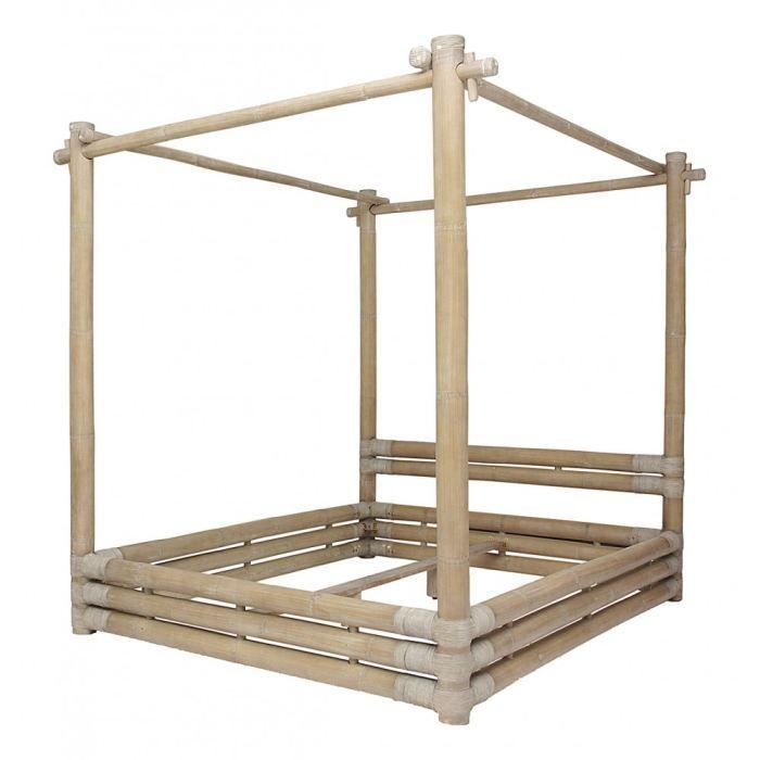 free structure de lit lit baldaquin en bambou cm bamboo inwood with lit baldaquin bois exotique. Black Bedroom Furniture Sets. Home Design Ideas