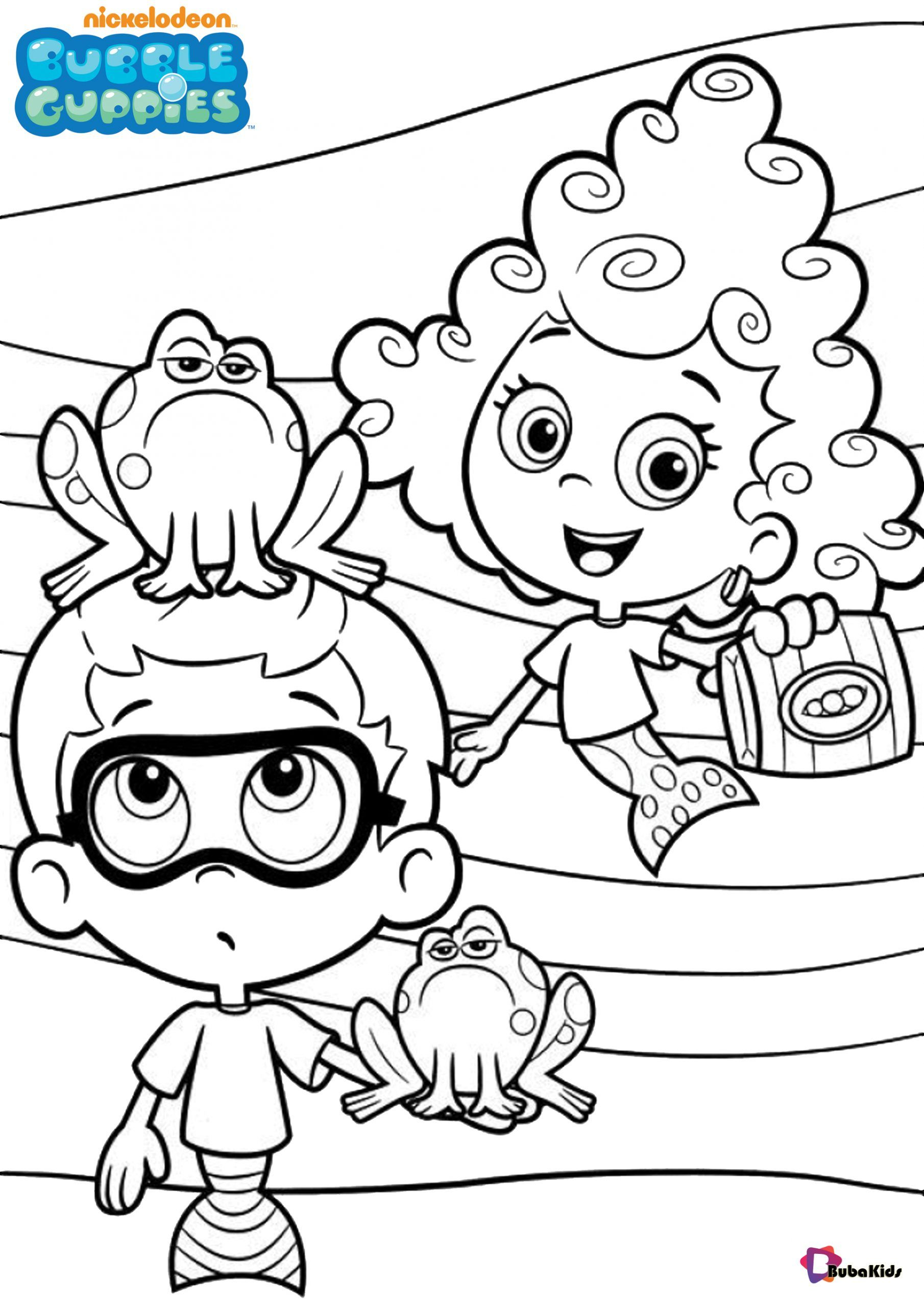 Free download Bubble Guppies coloring pages Collection of cartoon