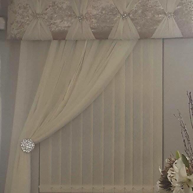 #Pelmet With Voiles #wirral #made To Measure