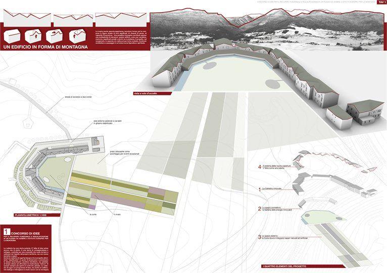 Istituto Europeo della Montagna-Terzo classificato - Progetto per la riqualificazione di un plesso  - Roana, Италия - 2007