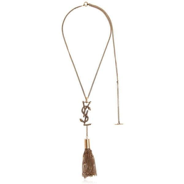 Saint Laurent Womens Tassel Necklace 1c8lP