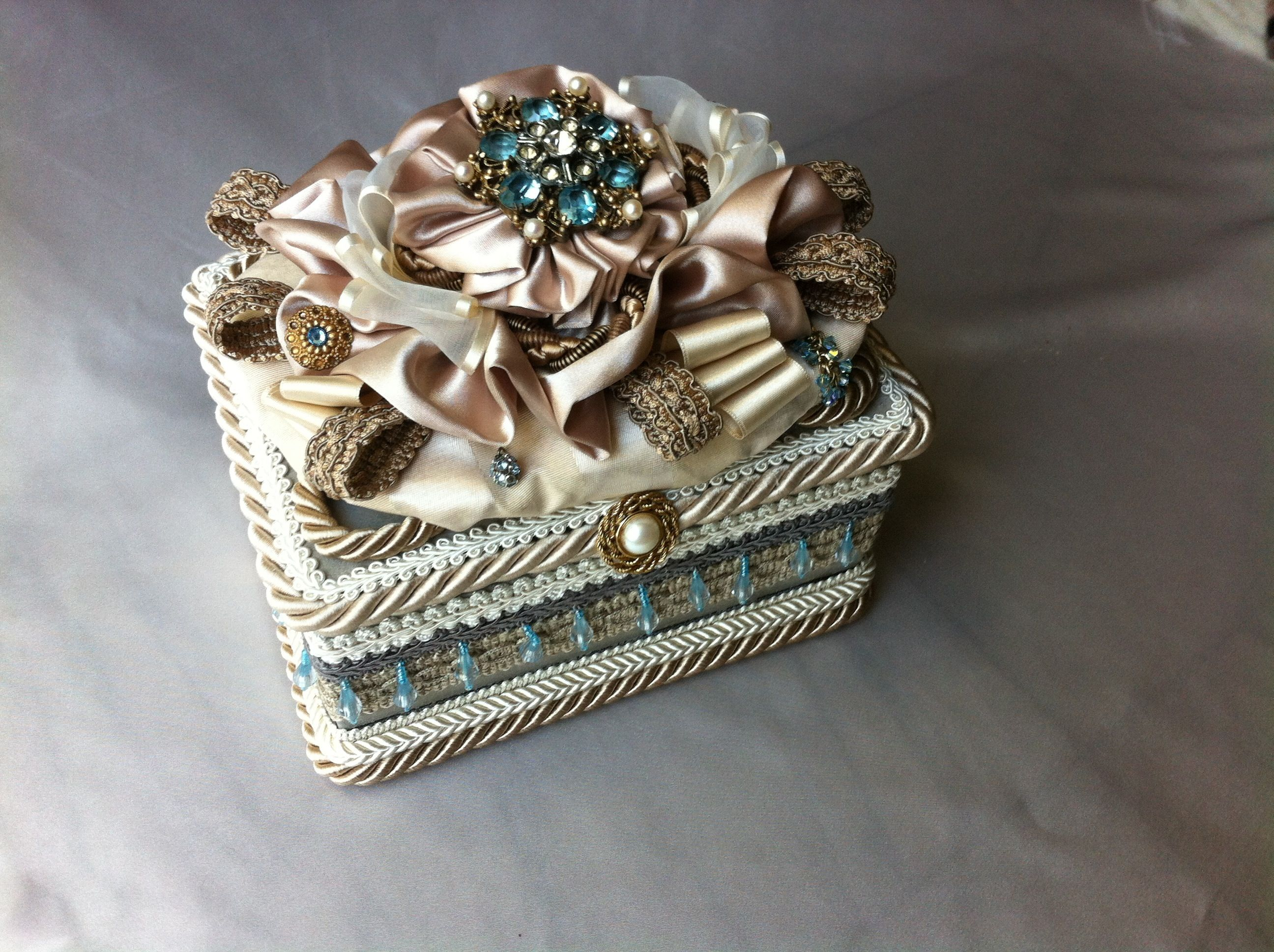 box with French ribbons