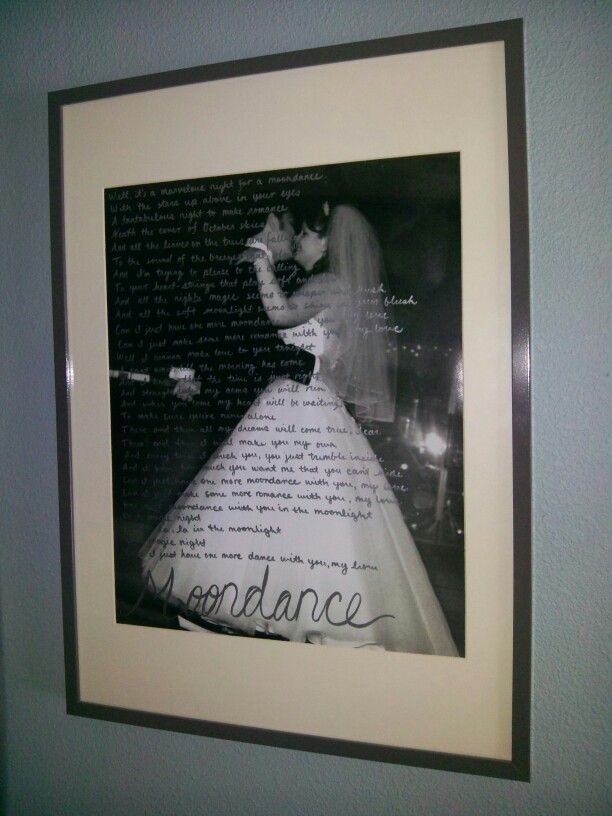 Diy wedding photo with first dance lyrics less than 35 extra large black white
