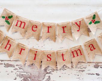 explore merry christmas banner burlap christmas and more - Burlap Christmas Banner