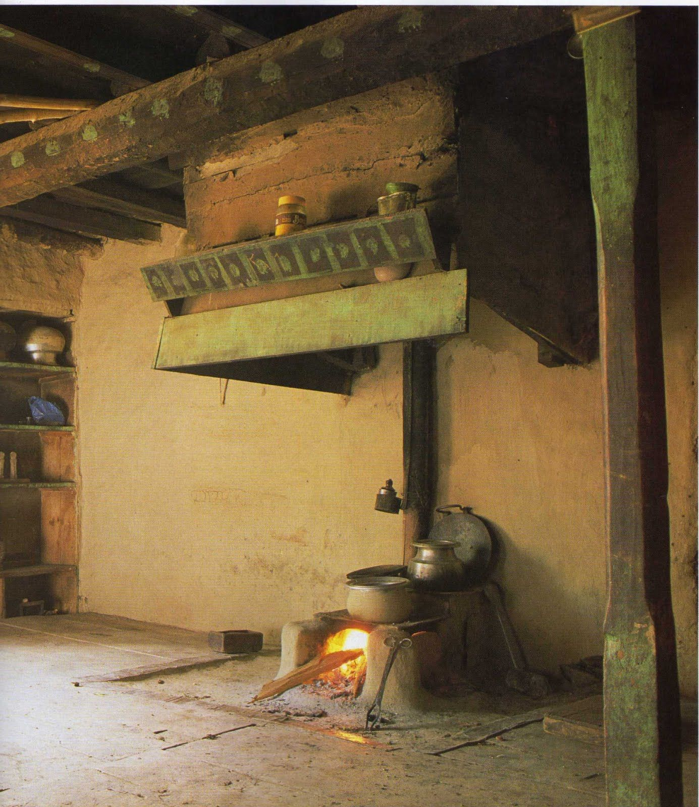"""Traditional Indian Kitchen Design: """"The Soul Of India Lives In Its Villages""""~ So Said Mahatma"""