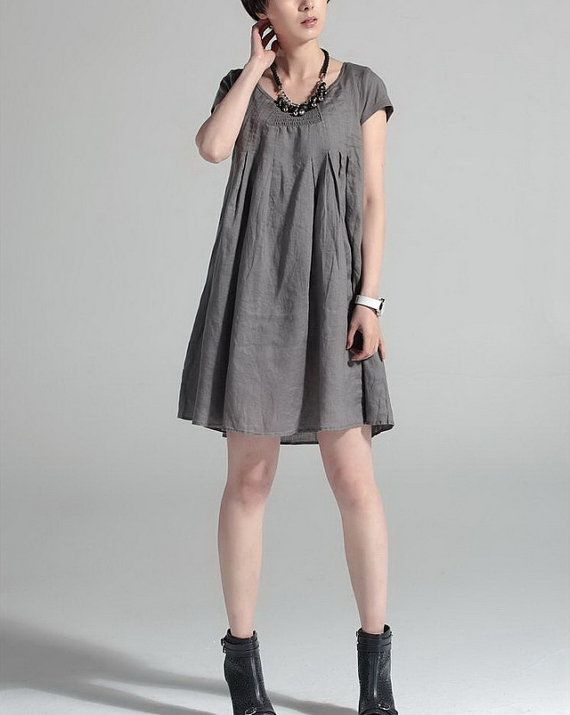 dress, linen. reasonable shipping rates from this seller ~ zeniche