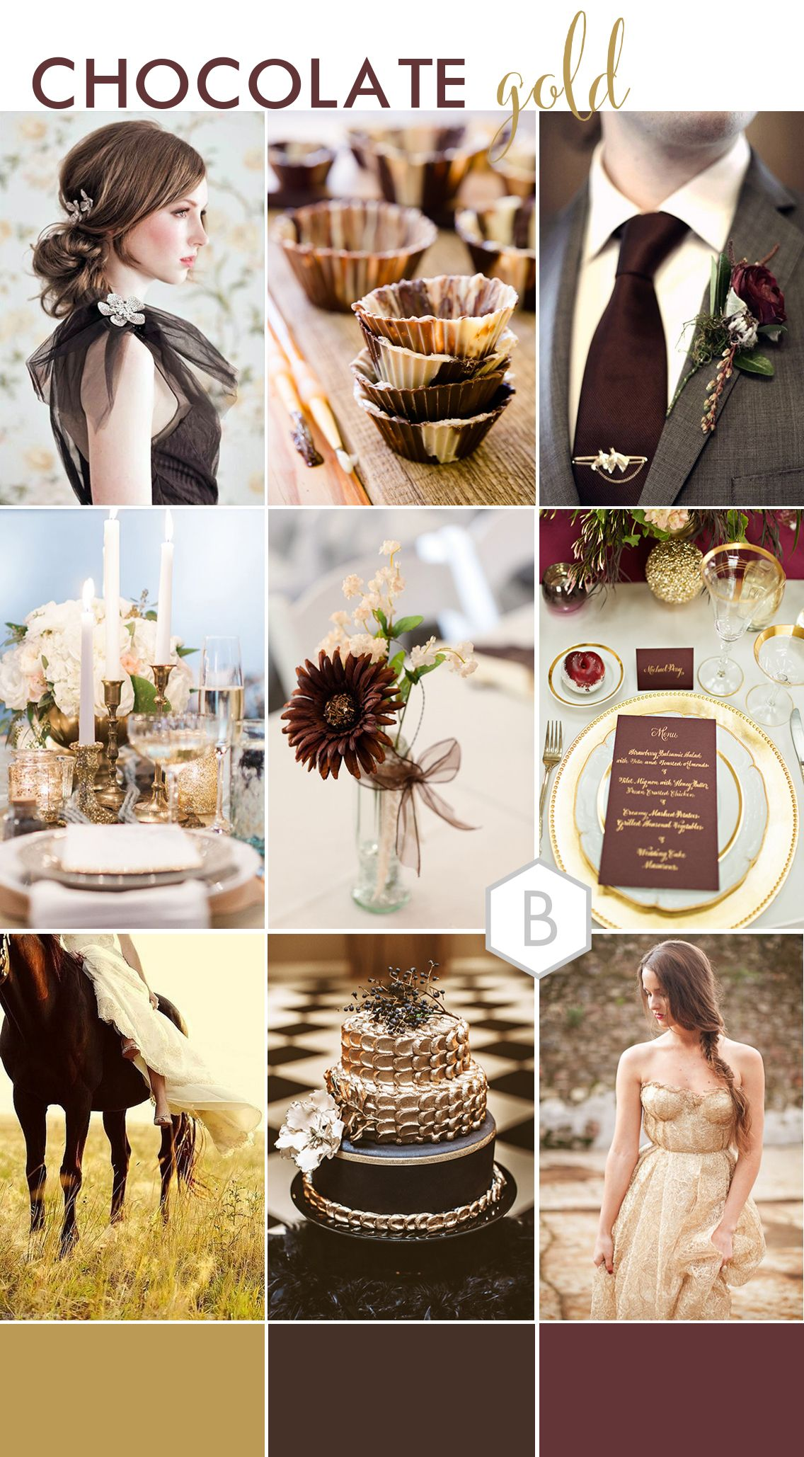 chocolate gold | wedding themes & moodboards in 2019