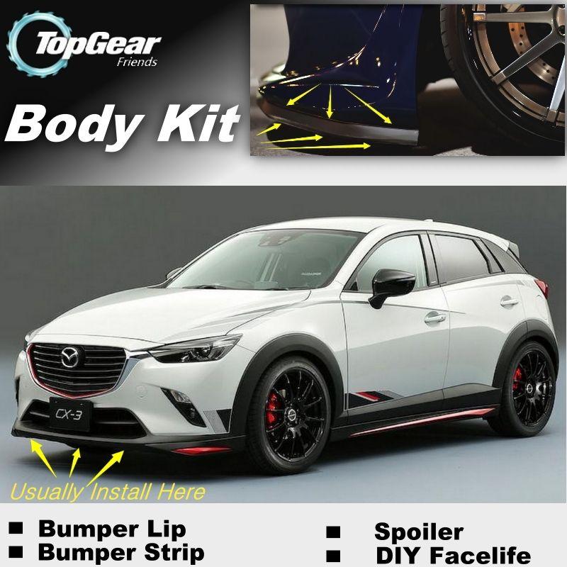 For Mazda CX3 CX 3 Akari Bumper Lip Front Spoiler Deflector