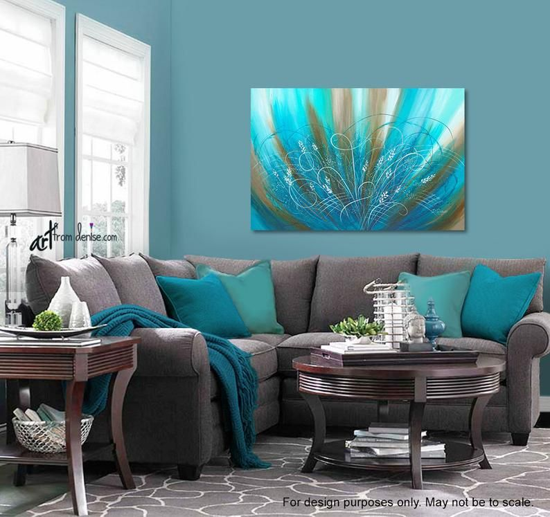 Bedroom Picture Flower Art Work Brown Aqua Blue Turquoise Etsy In 2020 Turquoise Living Room Decor Living Room Turquoise Green Living Room Decor #turquoise #and #brown #living #room #ideas