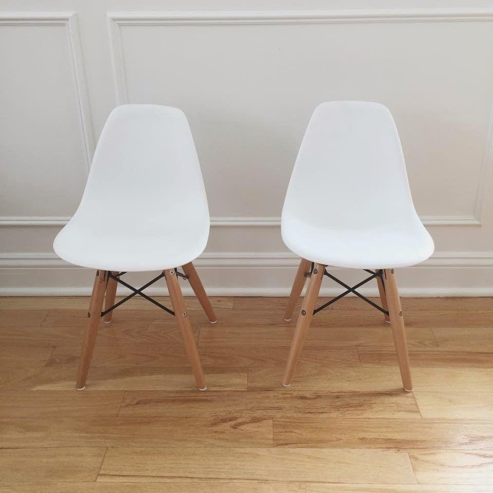 Billedresultat for eames childrens chair & stool white