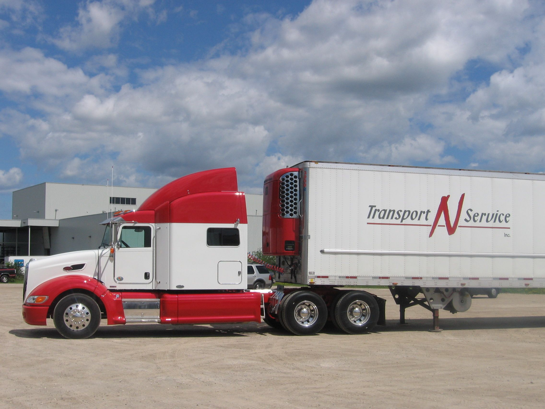 Pulling Up In Our Red And White Uniform Transportnservice Imaginerealservice Trucks Truck Driver Rental Company