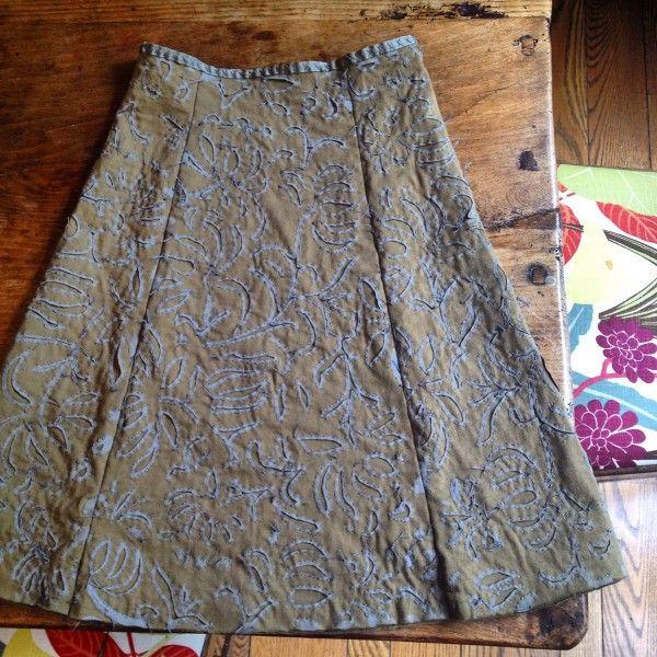 ann shayne's AC skirt : : mason dixon knitting.....repinned  by  Maurie Daboux¸.•*❤