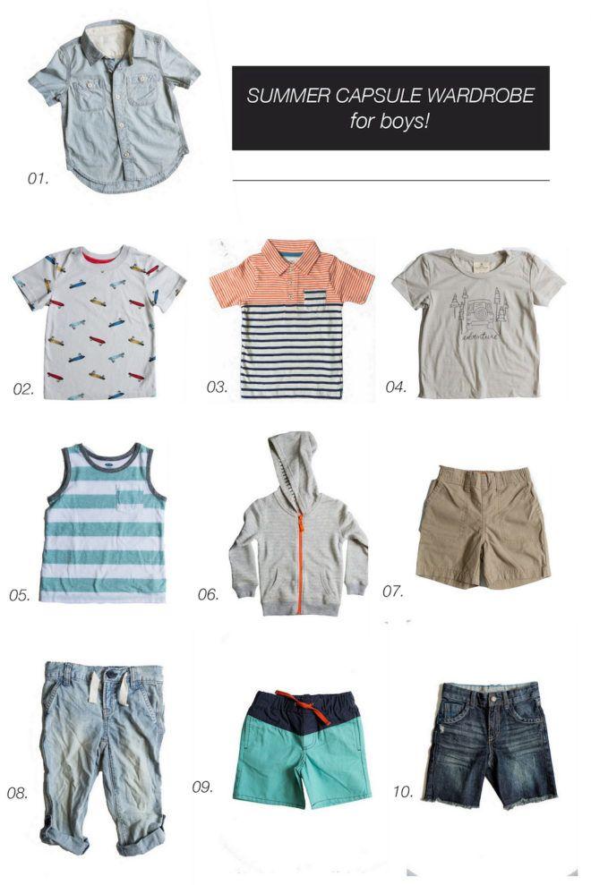 4f2ba1c8990 Summer Capsule Wardrobe || Toddler Boys | Wee Ones. | Toddler boy ...