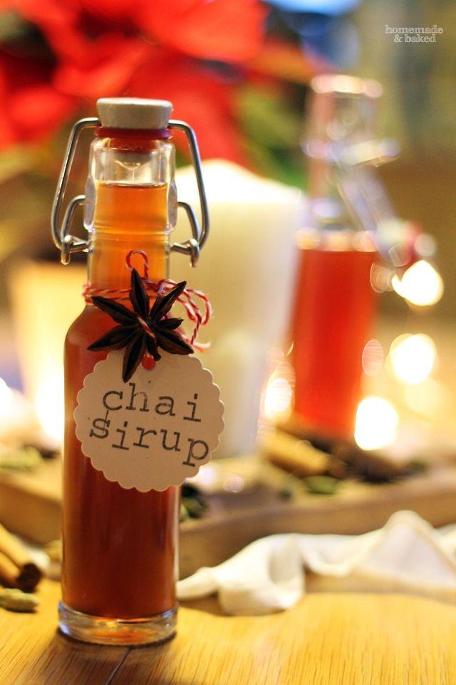 homemade and baked Food-Blog {Geschenke aus der Küche} Chai Sirup - geschenk aus der küche