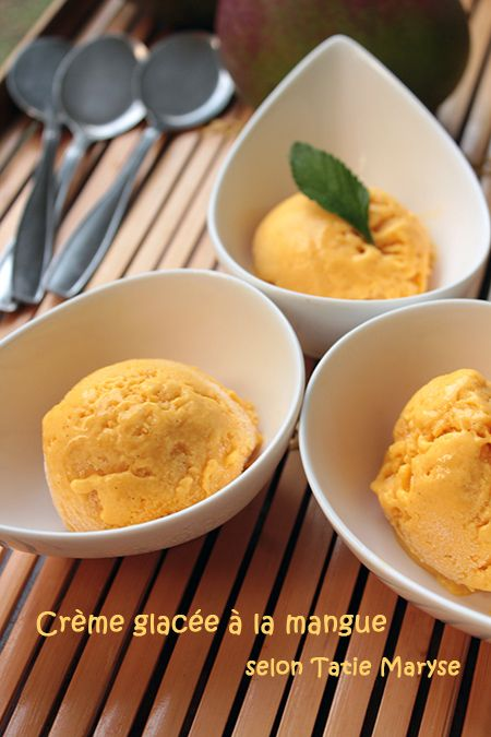 La glace à la mangue sans sorbetière : pour les gourmands