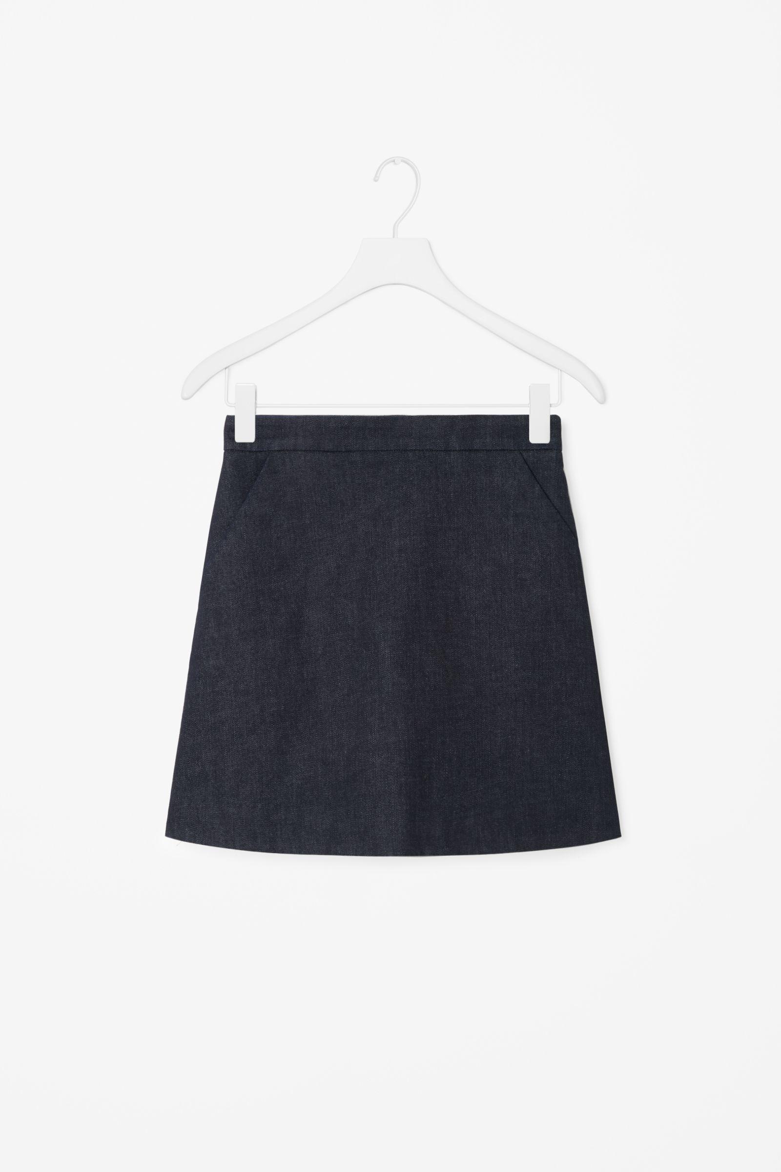 00c3823cfb0b COS image 4 of Short A-line denim skirt in Indigo | semi-realistic ...