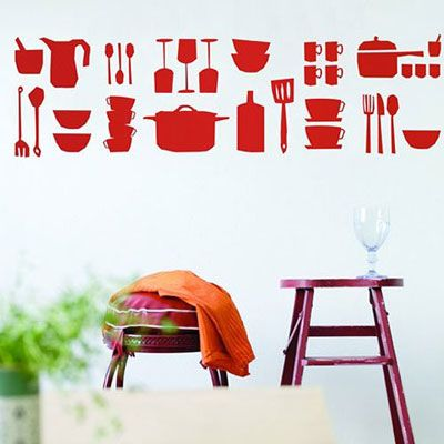 Ferm Living Kitchen Wall Sticker | MetropolitanDecor.com http://decdesignecasa.blogspot.it