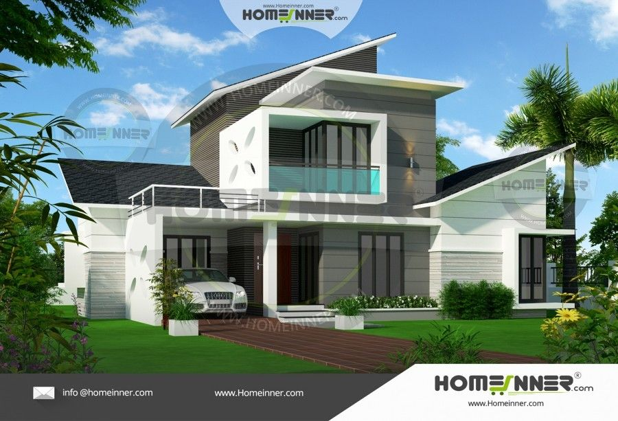 Sq ft bhk fusion style home design also pinterest rh