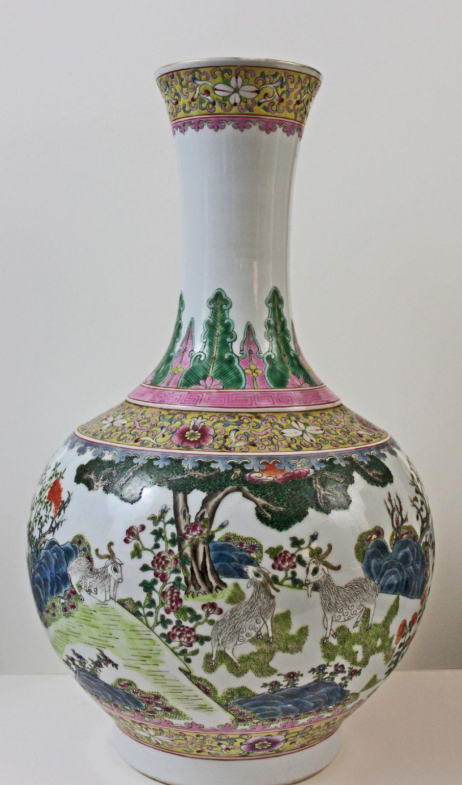 A large chinese porcelain vase famille rose pattern qianlong a large chinese porcelain vase famille rose pattern qianlong mark reviewsmspy