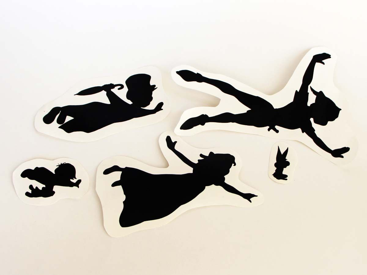peter pan silhouette flying tattoo for peter pan flying