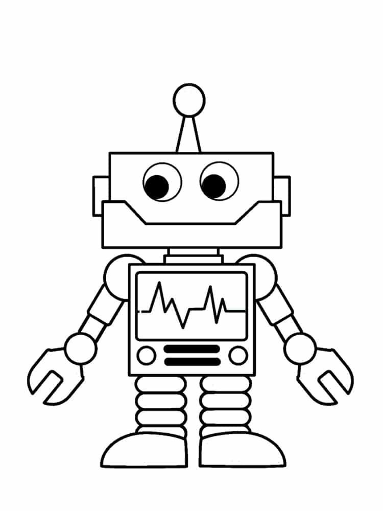 Pin De Fatiavci En Boyama Sayfasi En 2020 Robots Dibujo Dibujos Para Ninos Dibujos Simples