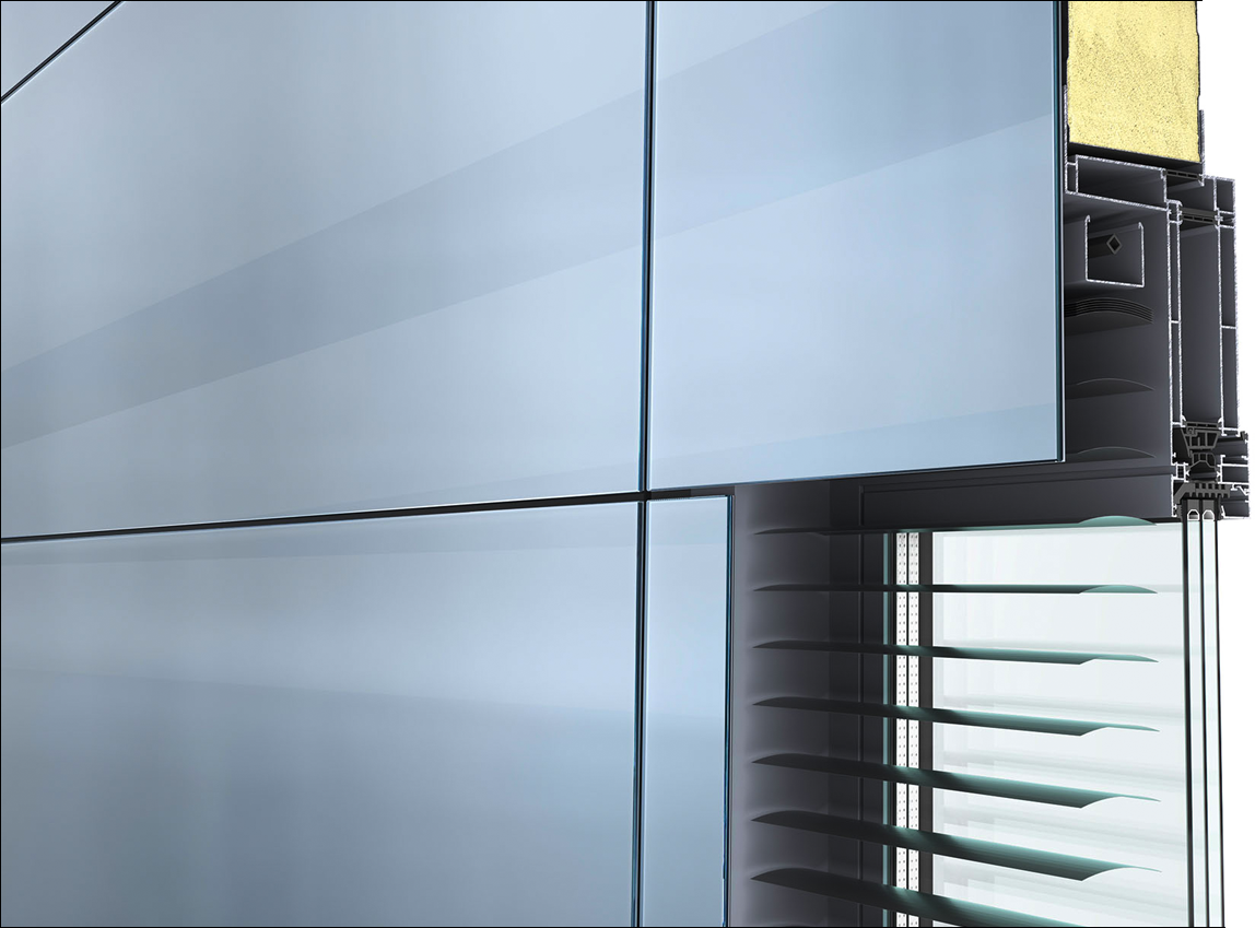 Glass Sandwich Panel Fur Fassaden In Flachenbundiger Ganzglasoptik Flachen Glas Und Optik