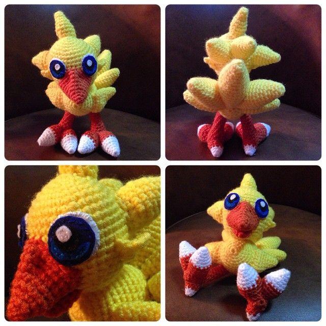 Xmas gift for my sis @_them20eyes_ is finally done! #chocobo #crochet #amigurumi #finalfantasy #aphid777 #babychocobo #handmade #crafts aphid777)