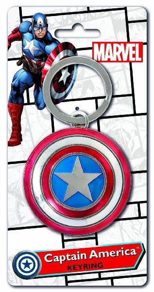 Captain America Civil War Pewter Key Ring