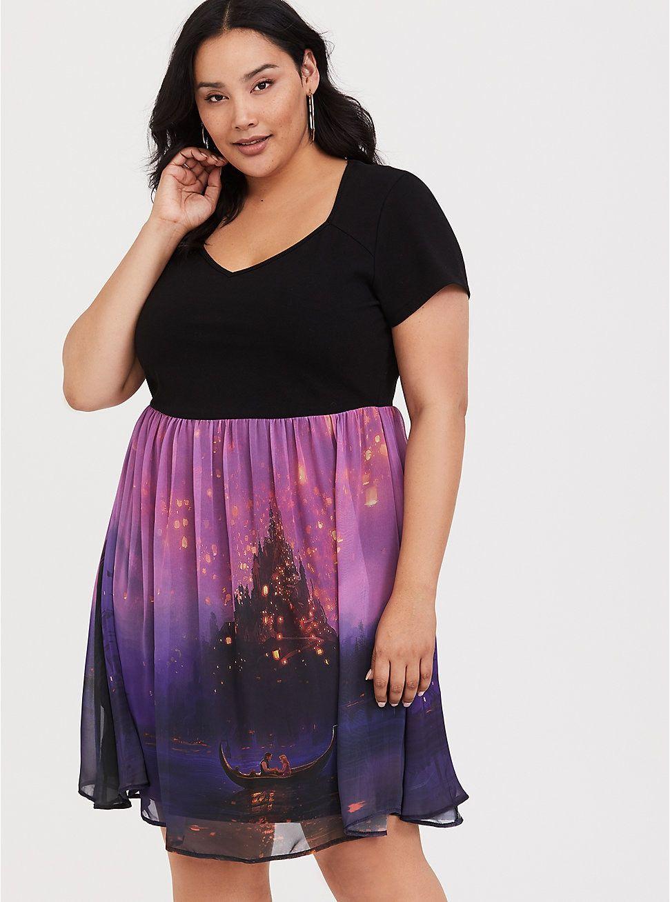 Disney Tangled Lantern Dress   Plus size dresses, Disney ...