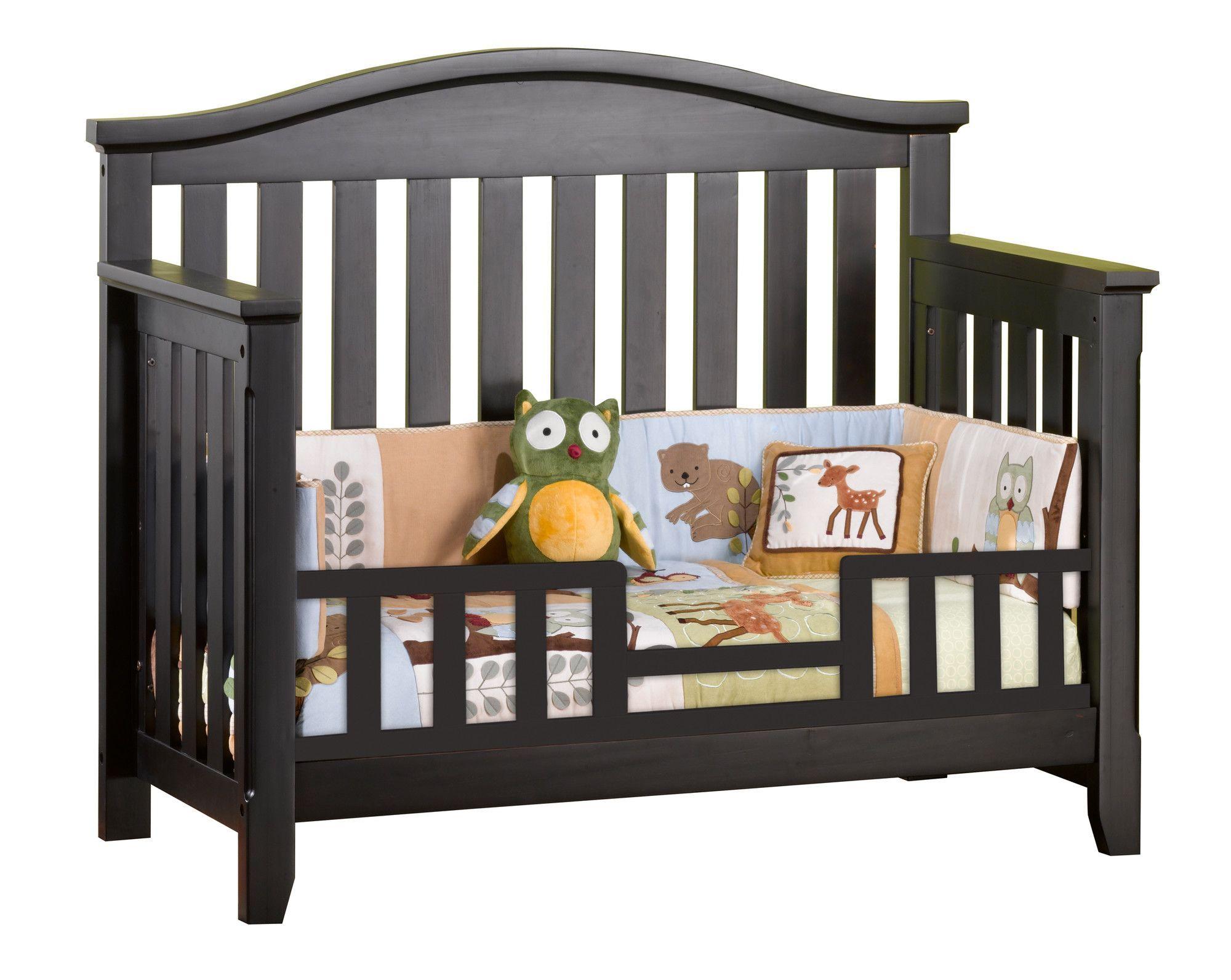 Hawthorne toddler guard rail cribs nursery crib bed