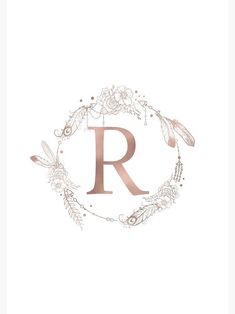 Letter R Rose Gold Pink Initial Monogram Spiral Notebook By Naturemagick Monogram Wallpaper Monogram Tattoo Gold Wallpaper Background