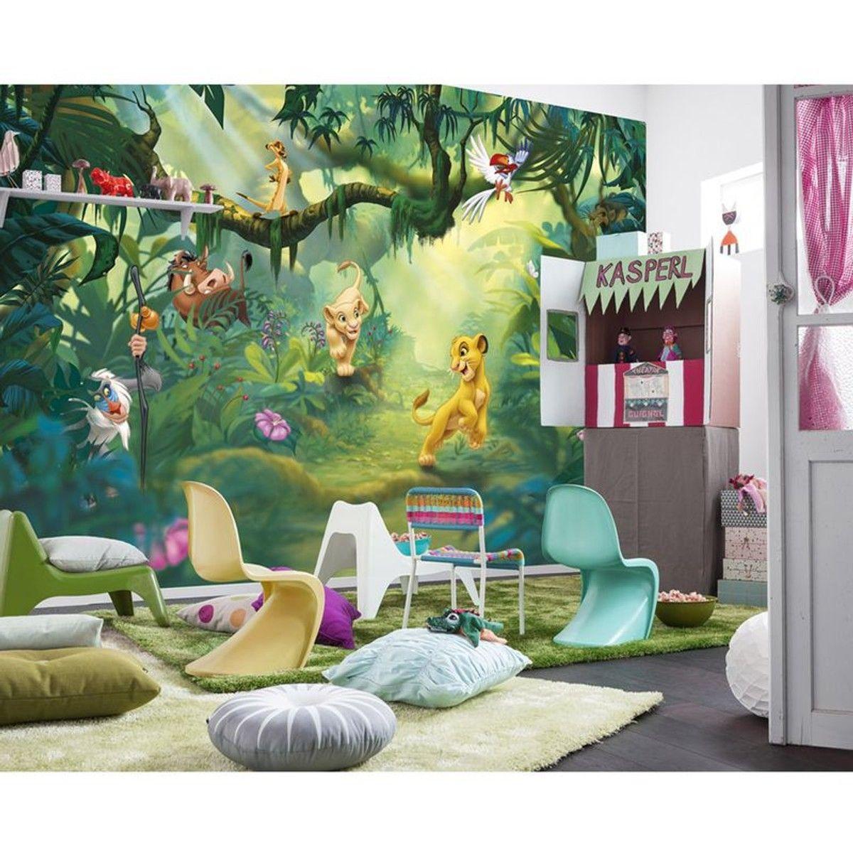 Papier Peint Le Roi Lion Disney 17x17 Cm - Taille : Taille